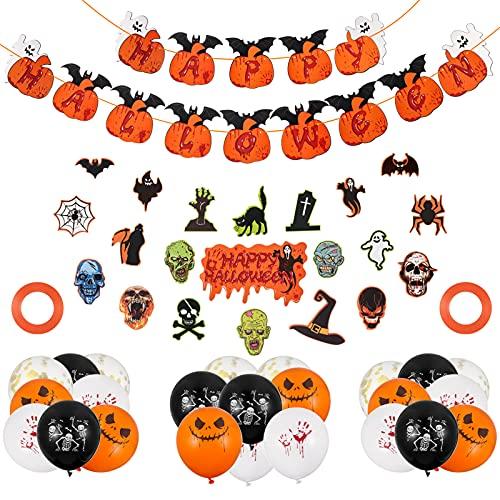 Xinzistar Dcorations de Halloween - 48 unidades de cartel de Halloween - Globos de látex con águila para Halloween