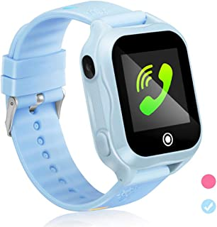 GUANLV Kids Smartwatch Kids Smart Watch Phone with Waterproof and App Remote Control Unlocked Kids SmartWatches Phone with Voice Chat Touch Screen Camera Compatible with Android and iOS (Blue)