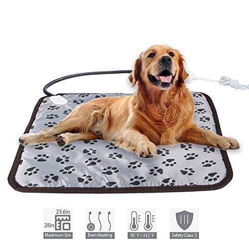 ペット用ホットカーペット ペット用ヒーター 電気毛布 犬 猫 小動物対応 暖房器具 寒さ対策 過熱保護 2段階温度調節 省エネ 噛み付き防止 45×45cm