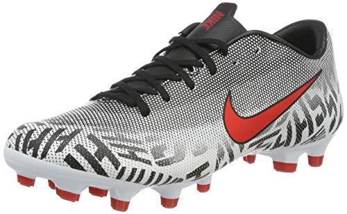 Nike Unisex-Erwachsene Neymar Vapor 12 Academy Mg Fußballschuhe, Mehrfarbig (White/Challenge Red/Black 170), 36.5 EU