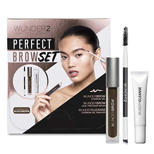 Wunder2 Perfect Brow Set Sopracciglia (Colore Nero/Marrone)