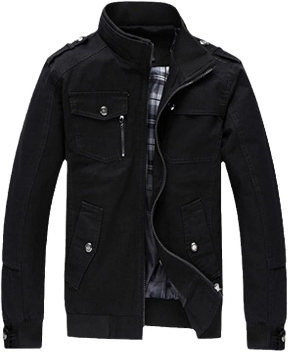 Casual Men's Bomber Jacket Spring Military Uniform Black Coat Winter Autumn Coat