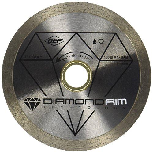 """QEP 6-4001Q 4"""" Diamond Blade For Wet or Dry Tile Saws For Ceramic Tile"""