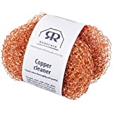 REDECKER Copper Pot Scrubber, Set of 2, Durable and Non-Abrasive Scrubber, Removes Stubborn Rust and Dirt on Appliances, Cookware and Auto-Parts, Machine Washable, Made in Netherlands