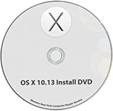 Mac OS X 10.13 High Sierra Full OS Install - macOS Reinstall/Recovery Upgrade Downgrade/Repair Utility Complete Factory Reset Disc CD DVD Drive Disk