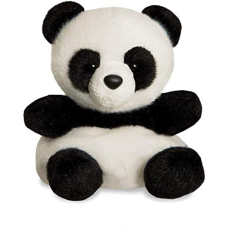 Aurora, 61350, Palm Pals Bamboo Panda, 5In, Peluche, Noir et Blanc