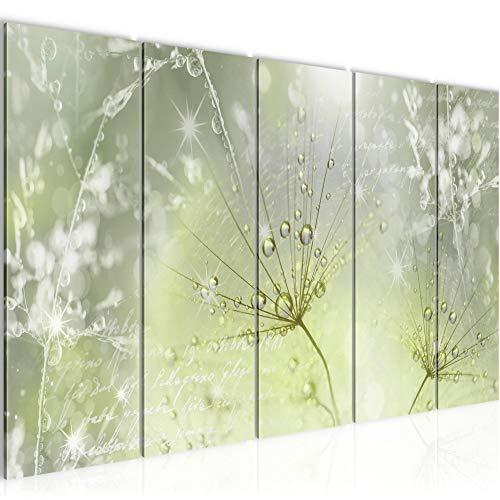 Runa Art Väggmålning XXL Maskros 200 x 80 cm Grå 5 Delar - Made in Germany - 205655b