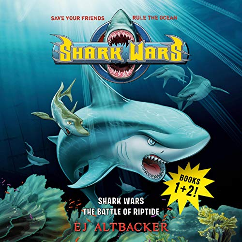 Shark Wars 1 & 2 audiobook cover art