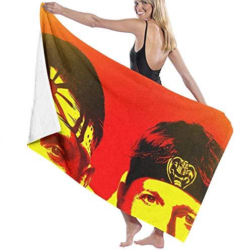 KOMOBB Cobra Kai Toalla de playa de algodón absorbente de microfibra toallas de baño de secado rápido para mujeres, niños