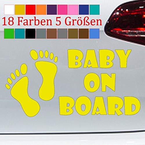 generisch Baby on Board Aufkleber Kind an Bord Füße Kid Sticker Geburt Heckscheibe S-XXL