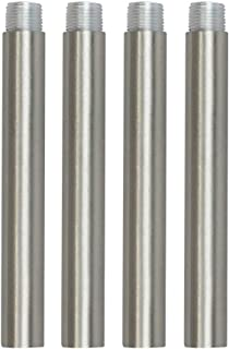 VINLUZ 4 Inches Pendant Extension Rods for Chandelier, Brushed Nickel Accessory Stem Kit Down Rod Pack of 4