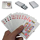 Playing Cards Waterproof Poker Sliver Foil Deck of Cards