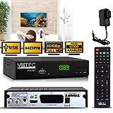 M@tec Digital FTA 007 Récepteur satellite numérique HD TV TV satellite (HDTV, S/S2, HDMI, SCART, USB 2.0, Full HD 1080p) - Récepteur satellite préprogrammé pour Astra