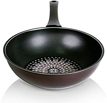 Techef Blooming Flower Collection 12 Inch Wok/Stir-Fry Pan