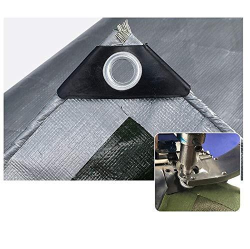 Lona lona impermeable de tela de jardín al aire libre Patio plantas suculentas casa del animal doméstico impermeable de protección solar de la sombrilla de tela PE Thick0.3mm (Color: Gris, Tamaño: 4x4