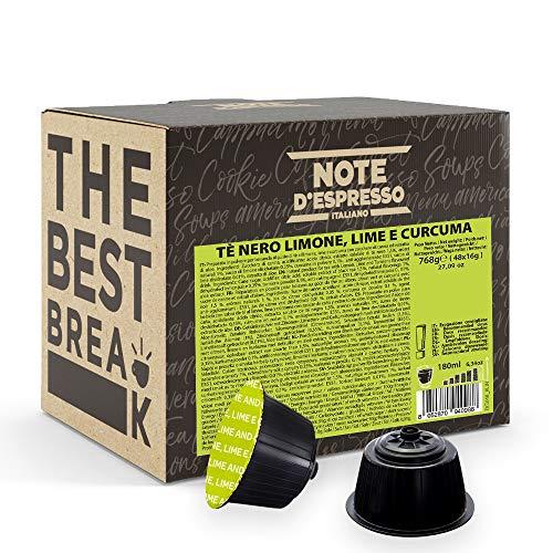 Note D'Espresso - Kapselmaschinen - ausschließlich kompatibel mit Nescafé* und *Dolce Gusto*- Black Tea, Lemon, Lime und Curcuma - 16g x 48
