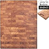 Daddy Chef End Grain Wood cutting board - Wood Chopping block - Large...