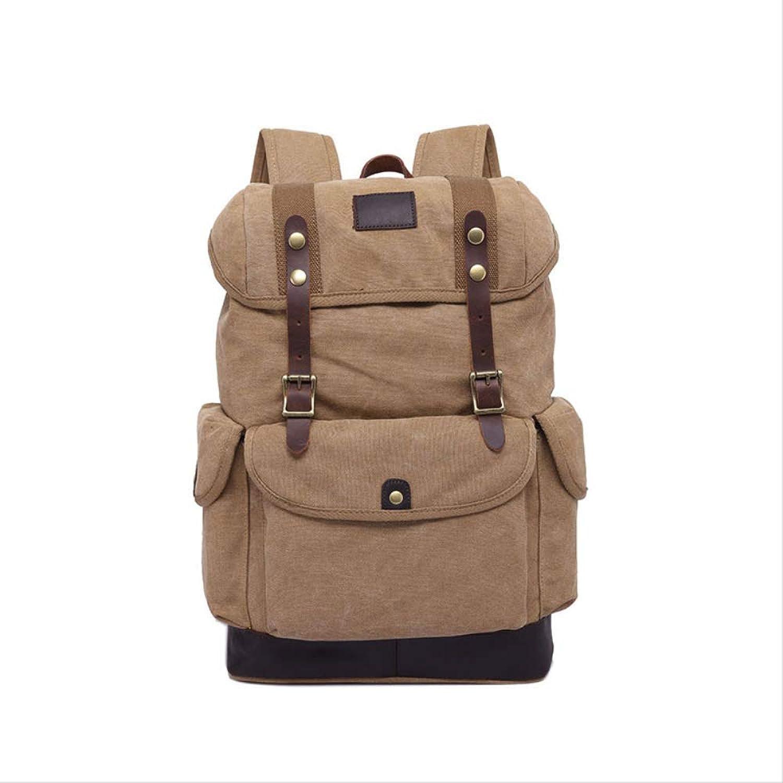 VBNM Rucksack Backpack Men's Cloth Bag Casual Men's Bag Large Capacity Travel Bag Canvas Backpack