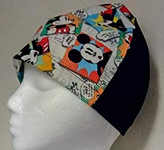 Mickey Mouse Vintage Beanie Hat Cap Scrub Cancer Chemo Head Cover