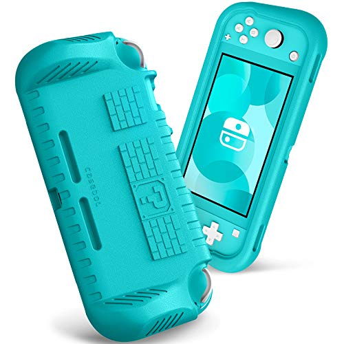 Fintie Kids Case for Nintendo Switch Lite 2019 w/2 Game Card Slots - [Ultralight] [Shockproof] Protective Cover with Ergonomic Grip, Kids Friendly Grip Case for Switch Lite Console, Turquoise