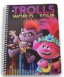Spiral Bound Trolls 50 Sheet Wide Ruled Notebook - 8 x 10.5 (Trolls World Tour)