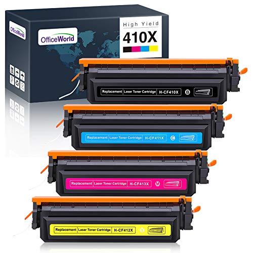 OfficeWorld Kompatibel Toner 410X 410A CF410X CF410A für HP Color Laserjet Pro MFP-M477fdw MFP-M477fdn MFP-M477fnw M377dw M452nw M452dn M452dw MFP-M477 M477 M377 M452