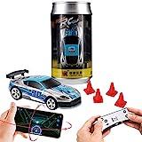 Remote Control car, Gravity Sensor Control, Remote Control, Mobile Phone Control 3 Modes of RC Car, Creative Coke can Pocket Racing, 2.4G (Silver)