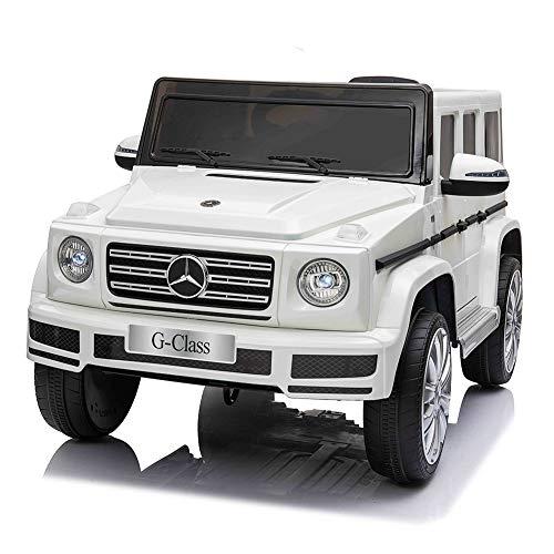 電動乗用カー 乗用ラジコン Mercedes Benz G500 りもこん ペダルとプロポで操作可能 子供へのプレゼント ギフト 電動カー 乗物玩具 ホワイト