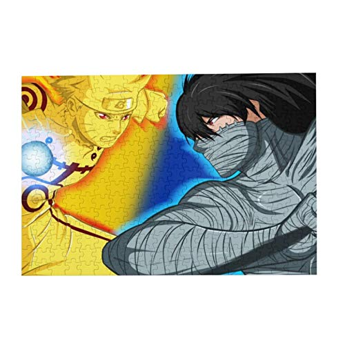 Jigsaw Picture Puzzles Gift for Kids 300pcs Educational Family Game Wall Artwork,Ruto Shippuuden Bleach Kurosaki Ichigo Uzumaki Naruto Anime Boys Bandage Rasengan