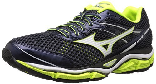 Mizuno Men's Wave Enigma 5 Running Shoe, Blue/White, 7.5 D US