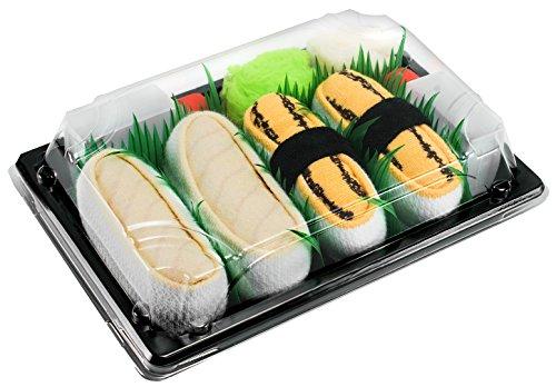 Rainbow Socks - Donna Uomo Calzini Sushi Tamago Butterfish - 2 Paia - Taglia 41-46