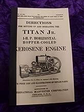 International Titan Jr Kerosene Engine OEM OEM Owners Manual