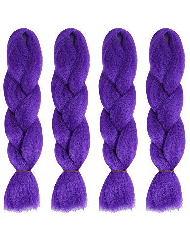 American Dream Lot de 4 tresses brillantes Jumbo Kanekelon Violet