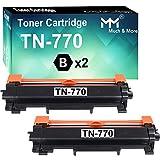 2-Pack Compatible TN770 TN-770 Toner Cartridge Used for MFC-L2750DW L2750DWXL HL-L2370DW L2370DWXL Printer (High Yield 2-Pack), by MuchMore