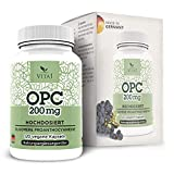 Estratto di semi d'uva OPC 400mg di VITA1 • 120 capsule (fornitura per 2 mesi) • Senza glutine, vegano, kosher e halal • Fatto in Germania