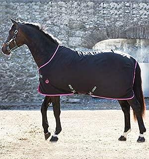 Horseware Ireland Amigo Stable Sheet Pony, Black/Purple/Mint, 54