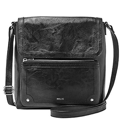 Relic by Fossil Evie Flap Crossbody Handbag, Black