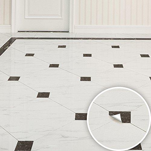 Bodhi2000 - Adhesivo diagonal para azulejos, 20 unidades, diseño moderno de mármol, autoadhesivo, para decoración del hogar, para salón, dormitorio, cuarto de baño