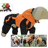 lovelonglong - Chubasquero con capucha para perro, pequeño, impermeable, con capucha, transpirable, 4 pies, cuatro patas, para perros pequeños, medianos y grandes