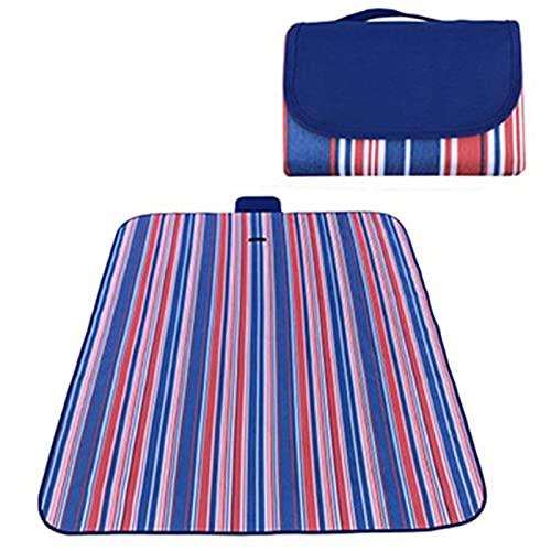 XUJIE Alfombra de Picnic Plegable 200cm * 200cm Impermeable, para Playa, Parque, Camping, Senderismo y Familia
