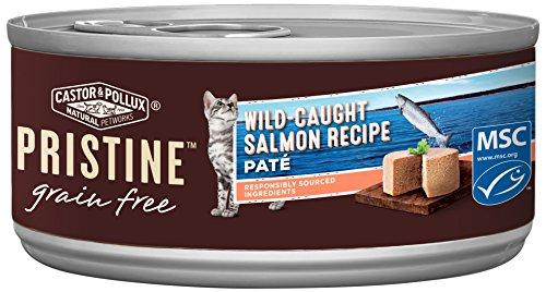 Castor & Pollux Pristine Wild-Caught Salmon Recipe Wet Cat Food 5.5 Oz, 24 Count Case
