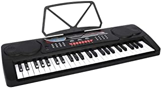 JJSFJH Electronic Keyboard Piano 49-Lighted Key Electric Piano Keyboard with 3 Teaching Mode Microphone 200 Tones 200 Rhyt...