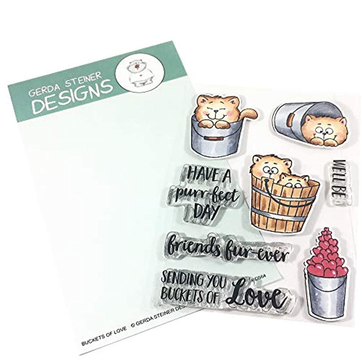Buckets of Love Clear Stamp Set 4x6 Inches