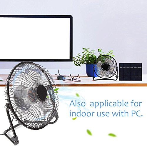 AUNMAS 5.2W Solar Panel Powered Fan USB Mini draagbare ventilator voor thuiskantoor ventilatie buitenkoeling