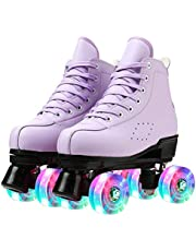 التزلج على الجليد للنساء من جلد البولي يوريثان عالي الجودة المتزلجات ذات العجلات بأربع عجلات متدحرجة أحذية تزلج للبنات في الأماكن المغلقة أو الهواء الطلق