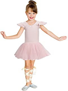 Jane Shine Girl Ballet Skirted Leotard, Butterfly Sleeve Ballet Cotton Dress with Fluffy Tutu for Babies& Girls