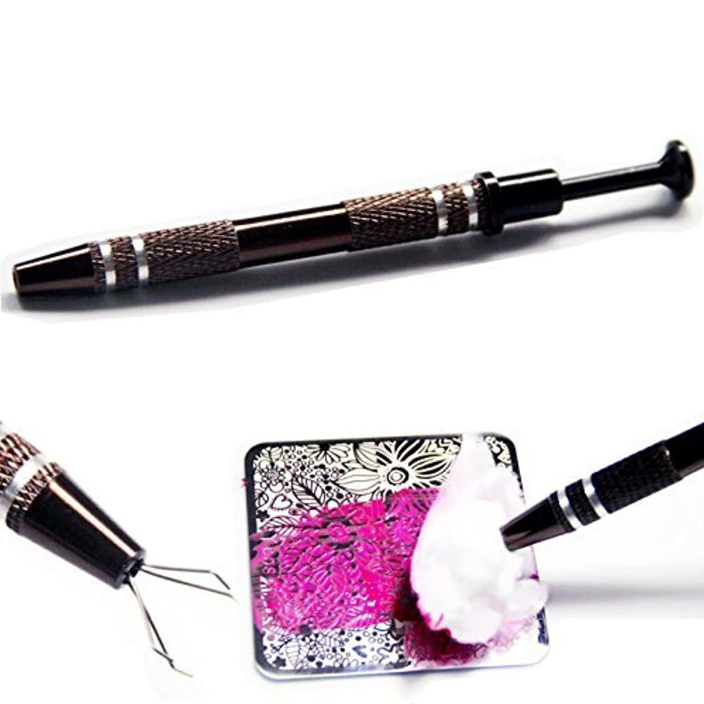 真夜中森林相対サイズイメージプレートクリーニングペン コットンキャッチペン スタンピングネイルツールネイルアートネイル用品