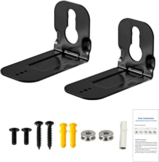 Wall Fixing Bracket Kit for Samsung Soundbar N950 MS750 MS751 HW-MS650 HWMS650, Sound Bar Black Wall Mount Bracket with Ac...