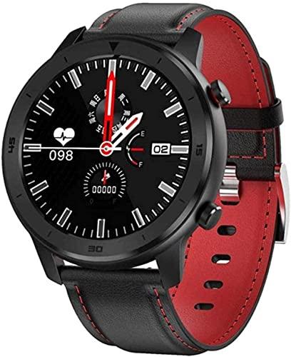 Reloj Inteligente Completo Toque Redondo Reloj Inteligente Hombres Retro Negocios IP68 Reloj Deportivo para Hombres Control Bluetooth Health Tracker-A
