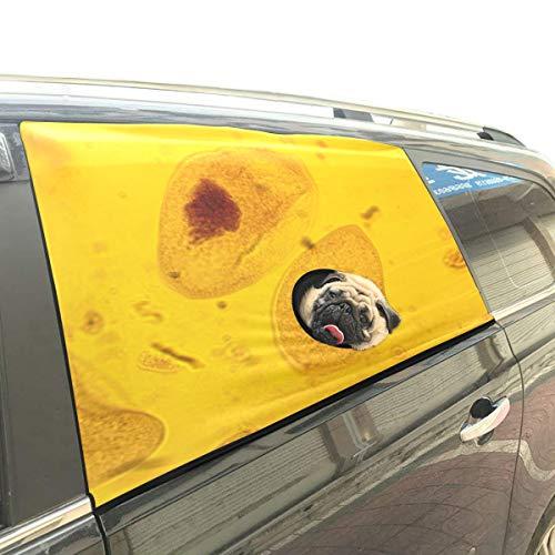 Vida Origen Paramecium Plegable Perro de seguridad para mascotas Coche Impreso Ventana Valla Cortina Barreras Protector para bebé niño Flexible ajustable Sun Shade cubierta Ajuste universal para Suv